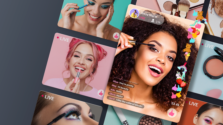 Livestream video content is providing a one-to-many experience for beauty shoppers to engage and interact with brands.