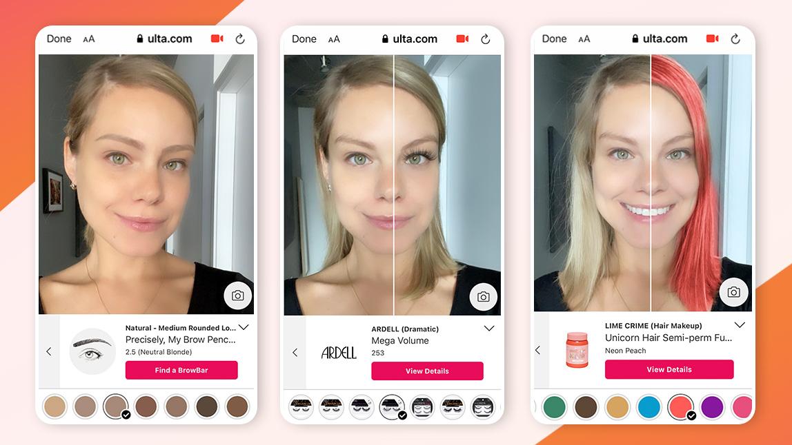 ULTA Beauty virtual try on