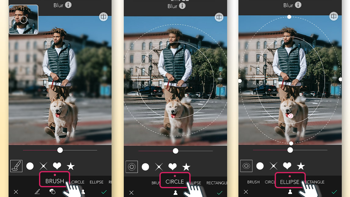 YouCam Perfect Blur Tool