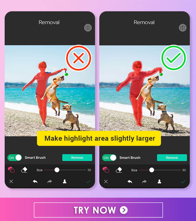 YouCam Perfect Object Removal