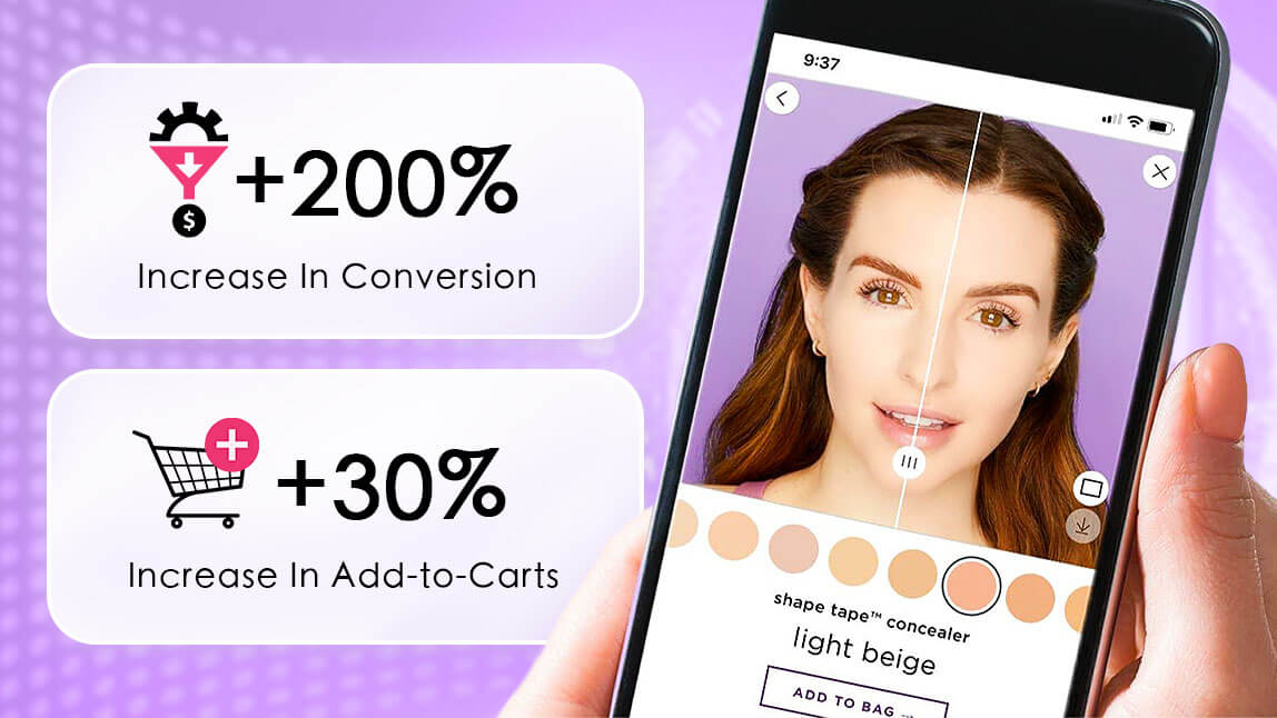 Tarte Cosmetics observed +200% in conversion