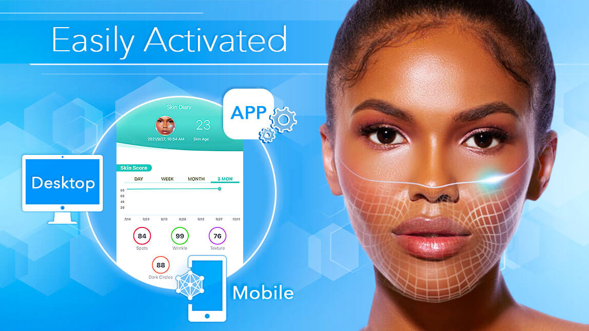 Perfect Corp. AI Skin Diagnostic is Easily Activated